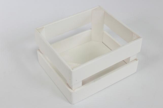 Ящик (17,5*15*10) фанера 6мм+брус+МДФ, окраш. ( белый - белый) Я01-02-0303
