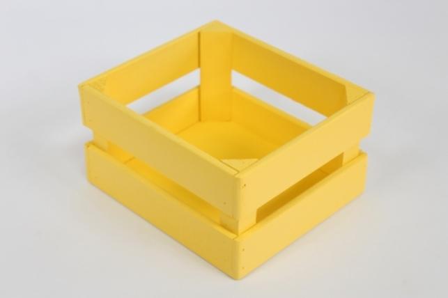Ящик (17,5*15*10) фанера 6мм+брус+МДФ, окраш. (желтый - желтый) Я01-02-1616