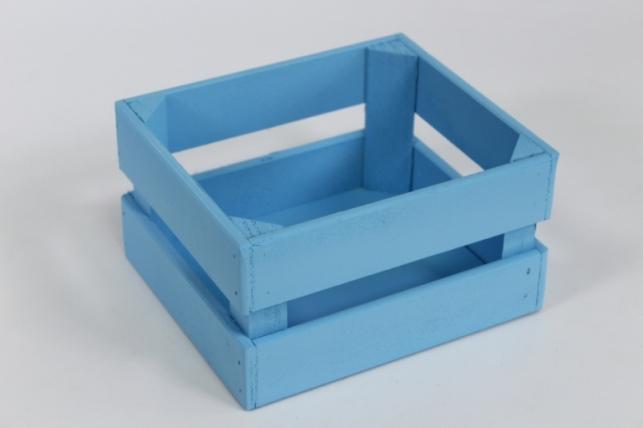 Ящик (17,5*15*10) фанера 6мм+брус+МДФ, окраш. (голубой - голубой) Я01-02-0707