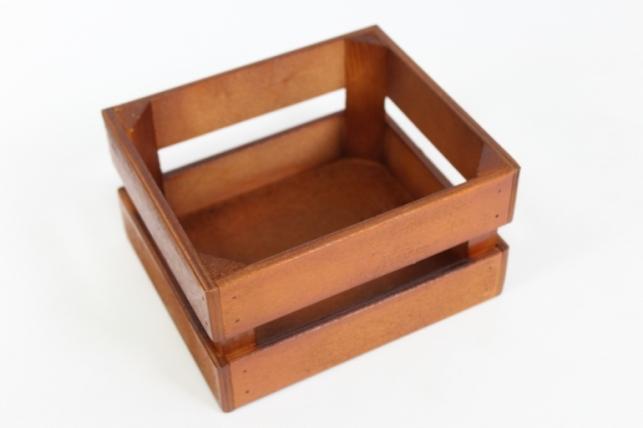 Ящик (17,5*15*10) фанера 6мм+брус+МДФ, окраш. морилкой (коричневый) Я01-02-1717