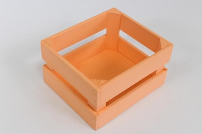 Ящик (17,5*15*10) фанера 6мм+брус+МДФ, окраш. (персик- персик) Я01-02-1414
