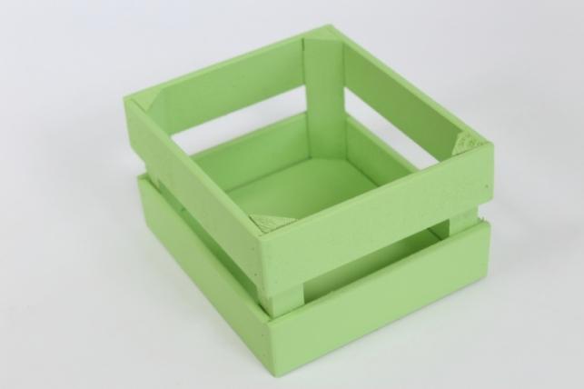 Ящик (17,5*15*10) фанера 6мм+брус+МДФ, окраш. (салатовый - салатовый) Я01-02-1313