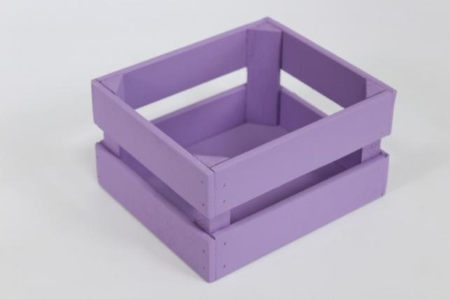 Ящик (17,5*15*10) фанера 6мм+брус+МДФ, окраш. (сиреневый - сиреневый) Я01-02-0909