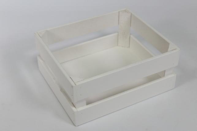 Ящик (22,5*19*10) фанера 6мм+брус+МДФ, окраш. ( белый - белый) Я04-02-0303