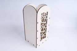"""Ящик (А) для цветов и подарков """"Цветочное панно"""" (Белый )Я061"""