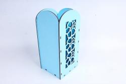 """Ящик (А) для цветов и подарков """"Цветочное панно"""" (Голубой )Я061"""