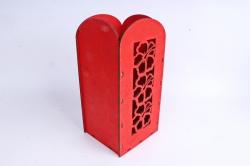"""Ящик (А) для цветов и подарков """"Цветочное панно"""" (Красный )Я061"""