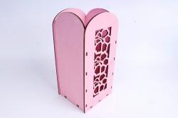 """Ящик (А) для цветов и подарков """"Цветочное панно"""" (Розовый )Я061"""