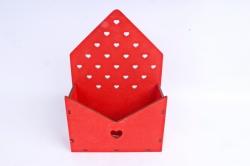"""Ящик (А) для цветов и подарков """"Любимой маме"""" №22  (Цвет Красный)Я055"""