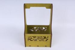 """Ящик (А) для цветов """"Листья"""" №3  альпийский луг.1С013ал"""