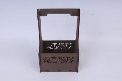"""Ящик (А) для цветов """"Листья"""" №3  коричневая сепия.1С013кс"""