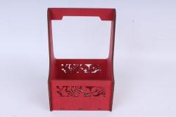 """Ящик (А) для цветов """"Листья"""" №3  красная груша.1С013кг"""