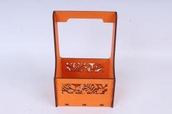 """Ящик (А) для цветов """"Листья"""" №3  оранжевый.1С013о"""