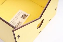 """Ящик (А) конверт для цветов """"Самой роскошной женщине в мире""""  (Желтый ) Я048"""