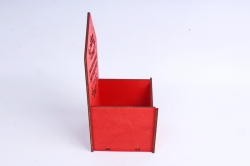 """Ящик (А) конверт для цветов """"Самой роскошной женщине в мире""""  (Красный) Я048"""