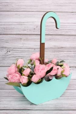 """Ящик для цветов (Т) """"ЗОНТ""""  25*10/h=1035см тифани"""