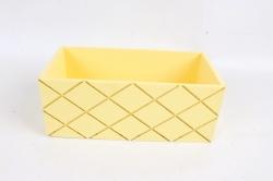 Ящик (ГО)  №11 желтый без ручки   в квадратик