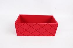 Ящик (ГО)  №11 красный без ручки   в квадратик