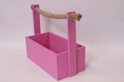 Ящик (ГО) с канатом №5 фуксия  250*125*100  (высота ручки 230мм)