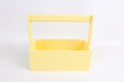 Ящик (ГО) с ручкой №1 желтый