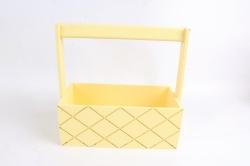 Ящик (ГО) с ручкой №13 желтый в квадратик