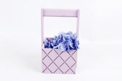 Ящик (ГО) с ручкой №6 лиловый   в квадратик