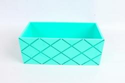Ящик (ГО)  №11 тиффани без ручки  в квадратик