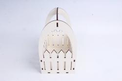 Ящик-заборчик (А)  с овальной ручкой  (Цвет Белый )Я056
