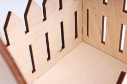 Ящик-заборчик (А)  с овальной ручкой  (Цвет Бесцветный )Я056
