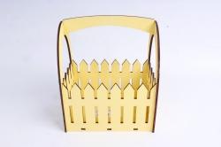 Ящик-заборчик (А)  с овальной ручкой (Цвет Желтый )Я056