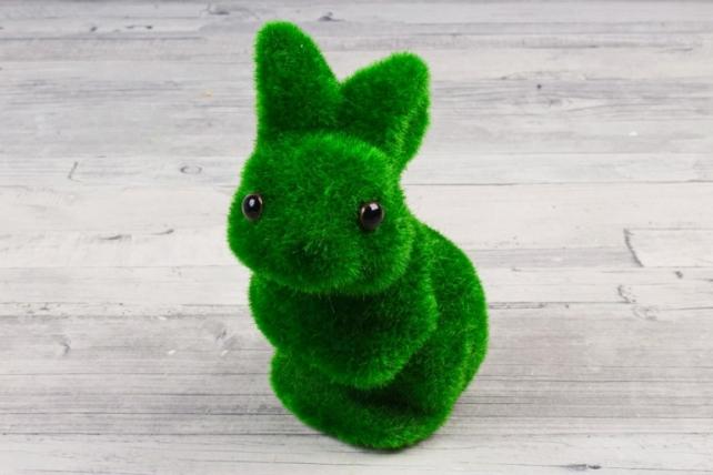 Зайчик зелёный мох 15-9 см 9ST7706
