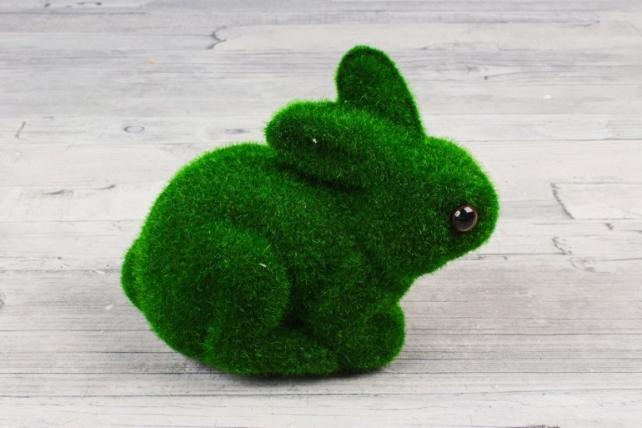 Зайчик зелёный мох 12*14 см 9ST7712