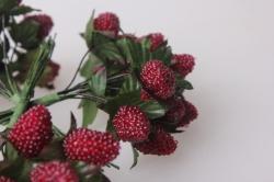 искусственные фрукты земляника искусственная 3см (12 пучков по 12 шт) 7801