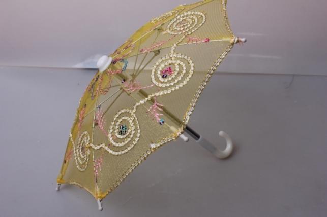 Зонт декоративный гипюр 30см Желтый