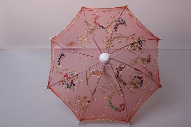 зонт декоративный гипюр 30см красный