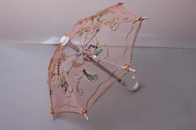Зонт декоративный гипюр 30см Персиковый