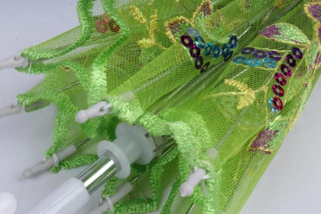 зонт декоративный гипюр 30см салатовый