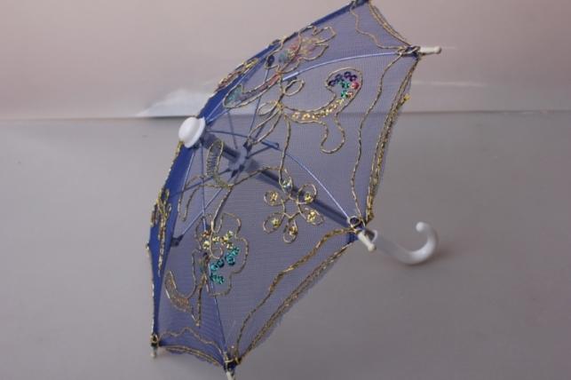 Зонт декоративный гипюр 30см Синий