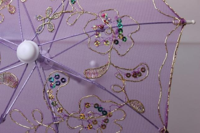 зонт декоративный гипюр 30см сиреневый
