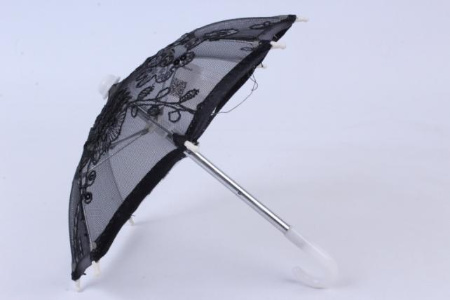 Зонт декоративный гипюр  чёрный