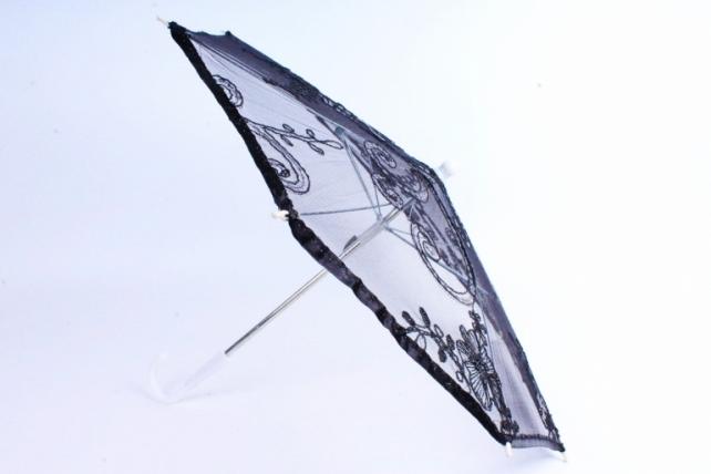 Зонт декоративный гипюр Черный