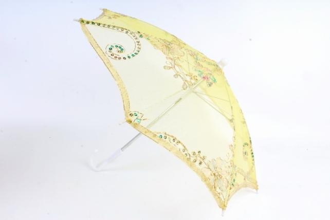 Зонт декоративный гипюр 60см Желтый