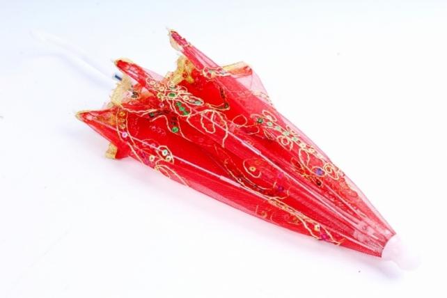 Зонт декоративный гипюр Красный