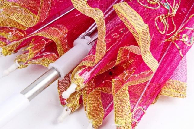 Зонт декоративный гипюр  Малиновый