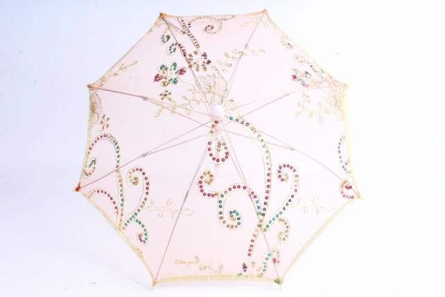 Зонт декоративный гипюр  Оранжевый