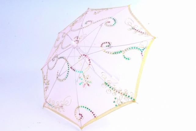 Зонт декоративный гипюр  Розовый