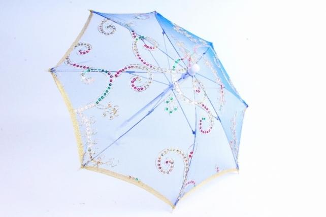 Зонт декоративный гипюр Синий