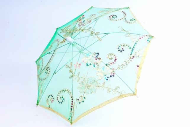 Зонт декоративный гипюр  Зеленый