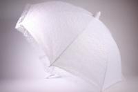 Зонт свадебный кружевной - белый (16) L=75см