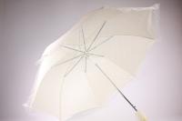Зонт свадебный кружевной - шампань (16) L=35см